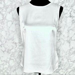 KASPER | Pearly White Keyhole Back Sleeveless Top